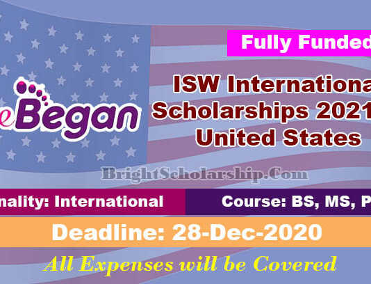 ISW International Scholarships 2021 in United States (Fully Funded)