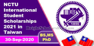 NCTU International Student Scholarships 2021 in Taiwan (Fully Funded)