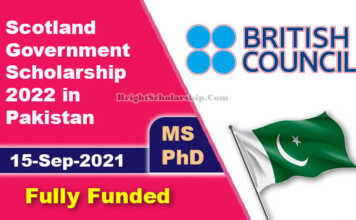 Scotland Government Scholarship 2022 for Pakistani Students (Fully Funded)