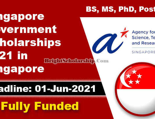 Singapore Government Scholarships 2021 in Singapore (Fully Funded)