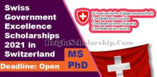 Swiss Government Excellence Scholarships 2021 in Switzerland (Fully Funded) (1)
