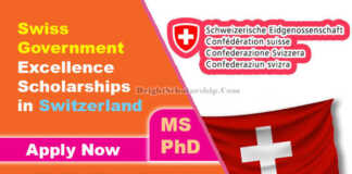 Swiss Government Excellence Scholarships 2022 in Switzerland (Fully Funded)