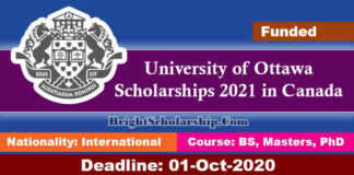University of Ottawa Scholarships 2021 in Canada (Funded)