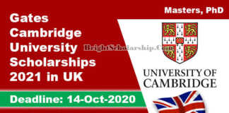 Gates Cambridge University Scholarships 2021 in UK (Fully Funded)