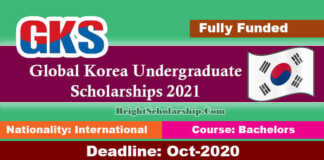 Global Korea Undergraduate Scholarships 2021 in South Korea (Fully Funded)