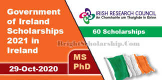 Government of Ireland Scholarships 2021 in Ireland (Funded)