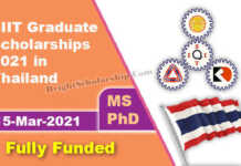 SIIT Graduate Scholarships 2021 in Thailand (Fully Funded)