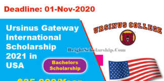 Ursinus Gateway International Scholarship 2021 in United States (Funded)
