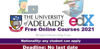 University of Adelaide Free Online Courses 2021