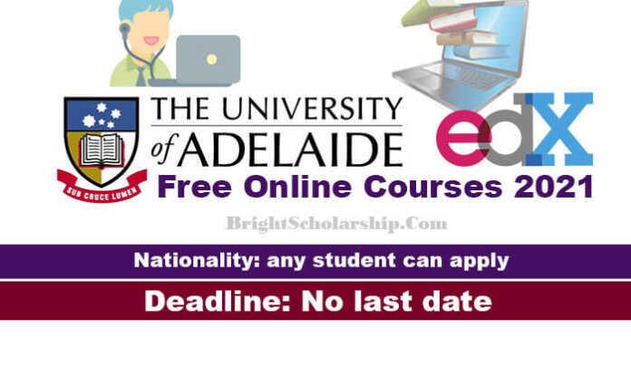 University of Adelaide Free Online Courses 2021
