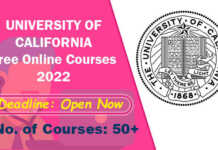University of California Free Online Courses 2022