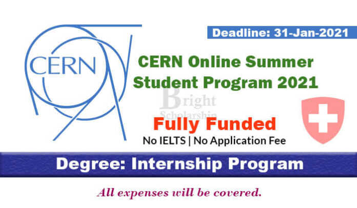 CERN Online Summer Student Program 2021 (Fully Funded)