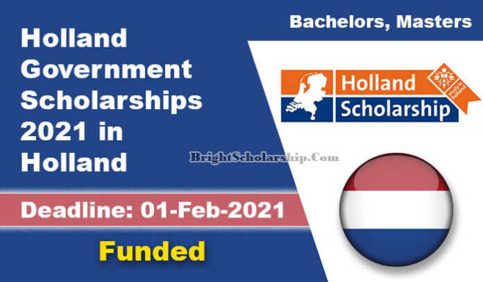 Holland Government Scholarships 2021 in Holland (Funded)