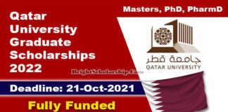 Qatar University Graduate Scholarships 2022 (Fully Funded)