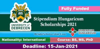 University of Debrecen Hungarian Scholarships 2021 in Hungary (Fully Funded)