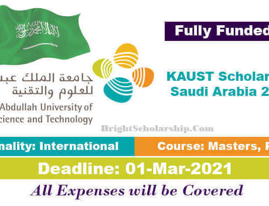 King Abdullah University Scholarship 2021 in Saudi Arabia (Fully Funded)