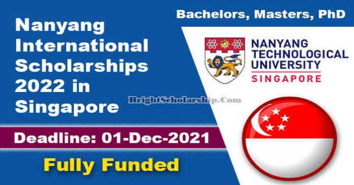 Nanyang International Scholarships 2022 in Singapore (Fully Funded)