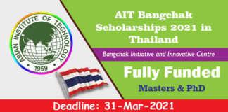 AIT Bangchak Scholarships 2021 in Thailand (Fully Funded)