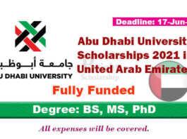 Abu Dhabi University Scholarships 2021 in UAE (Fully Funded)
