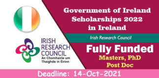 Government of Ireland Scholarships 2022 in Ireland (Fully Funded)
