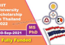 SIIT Graduate Scholarships 2022 in Thailand (Fully Funded)