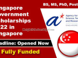 Singapore Government Scholarships 2022 in Singapore (Fully Funded)