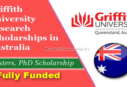 Griffith University Research Scholarships 2022 in Australia (Funded)