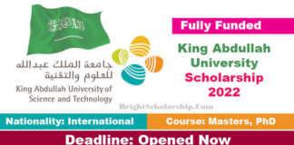 King Abdullah University Scholarship 2022 in Saudi Arabia (Fully Funded)