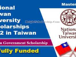 National Taiwan University Scholarships 2022 in Taiwan (Fully Funded)