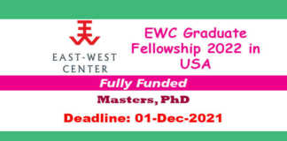EWC Graduate Fellowship 2022 in USA (Fully Funded)